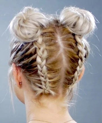 Double Braided Space Buns 11 Surprisingly Easy Braids For