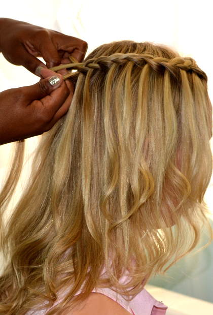 How to Do a Waterfall Braid: French Braid With Release
