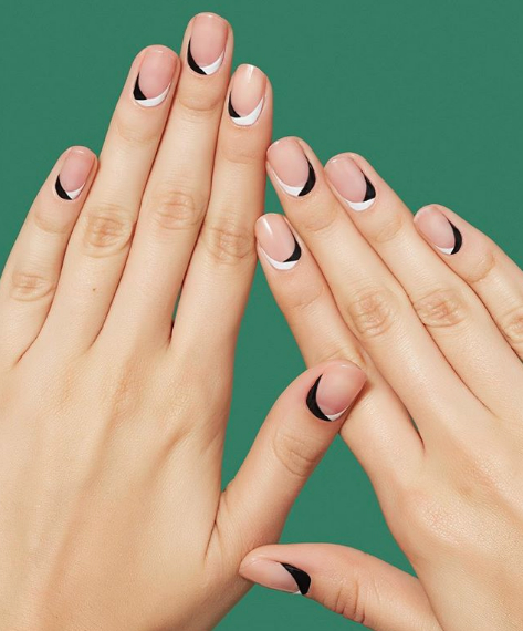Image result for negative space nail designs