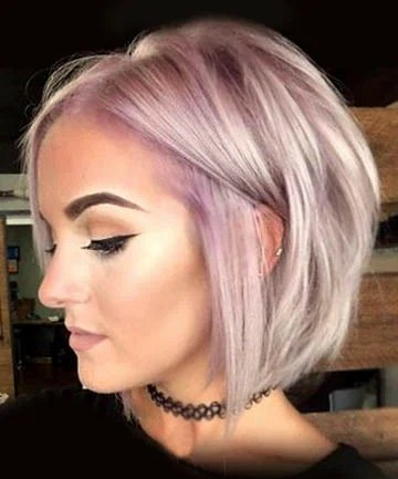 Lavender Textured Bob