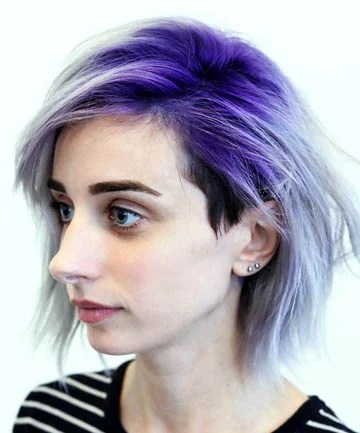 Purple Ombre With an Undercut