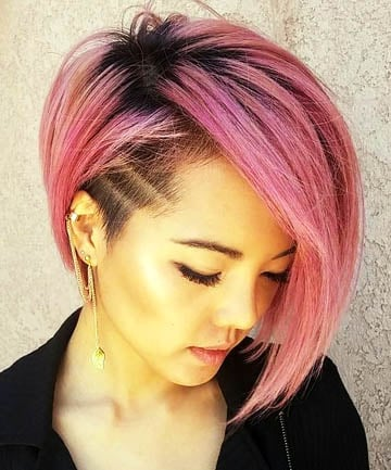 Rose Gold Asymmetrical Undercut