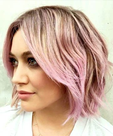 Piecey Bob with Pink Balayage