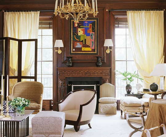 Decorating Ideas  Elegant Living Rooms   Traditional Home   ENLARGE