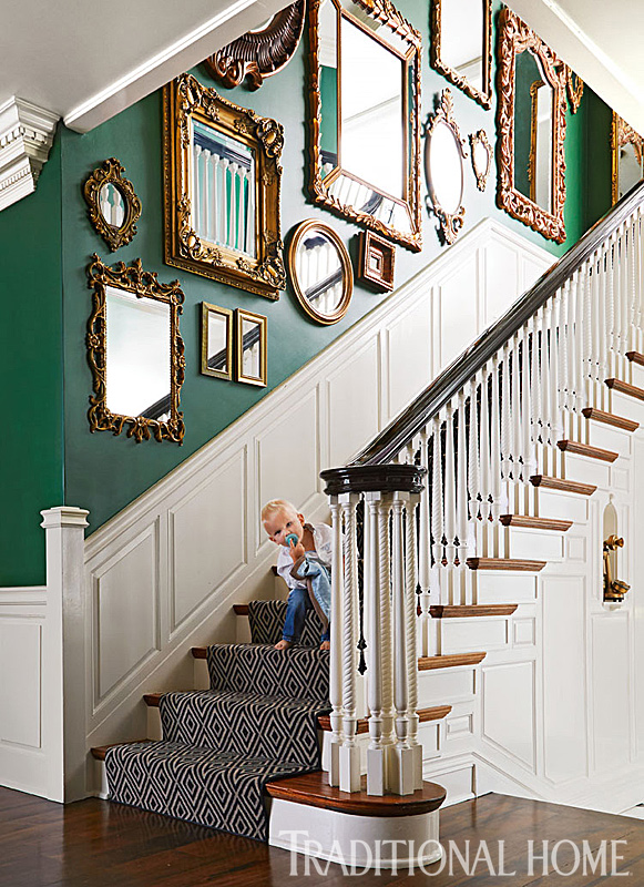 Green And White Accent Chair
