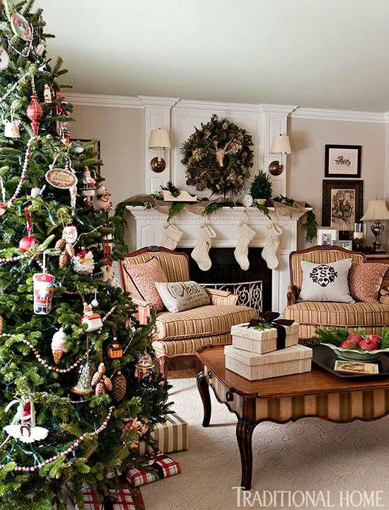Traditional Home Christmas Decorating Ideas