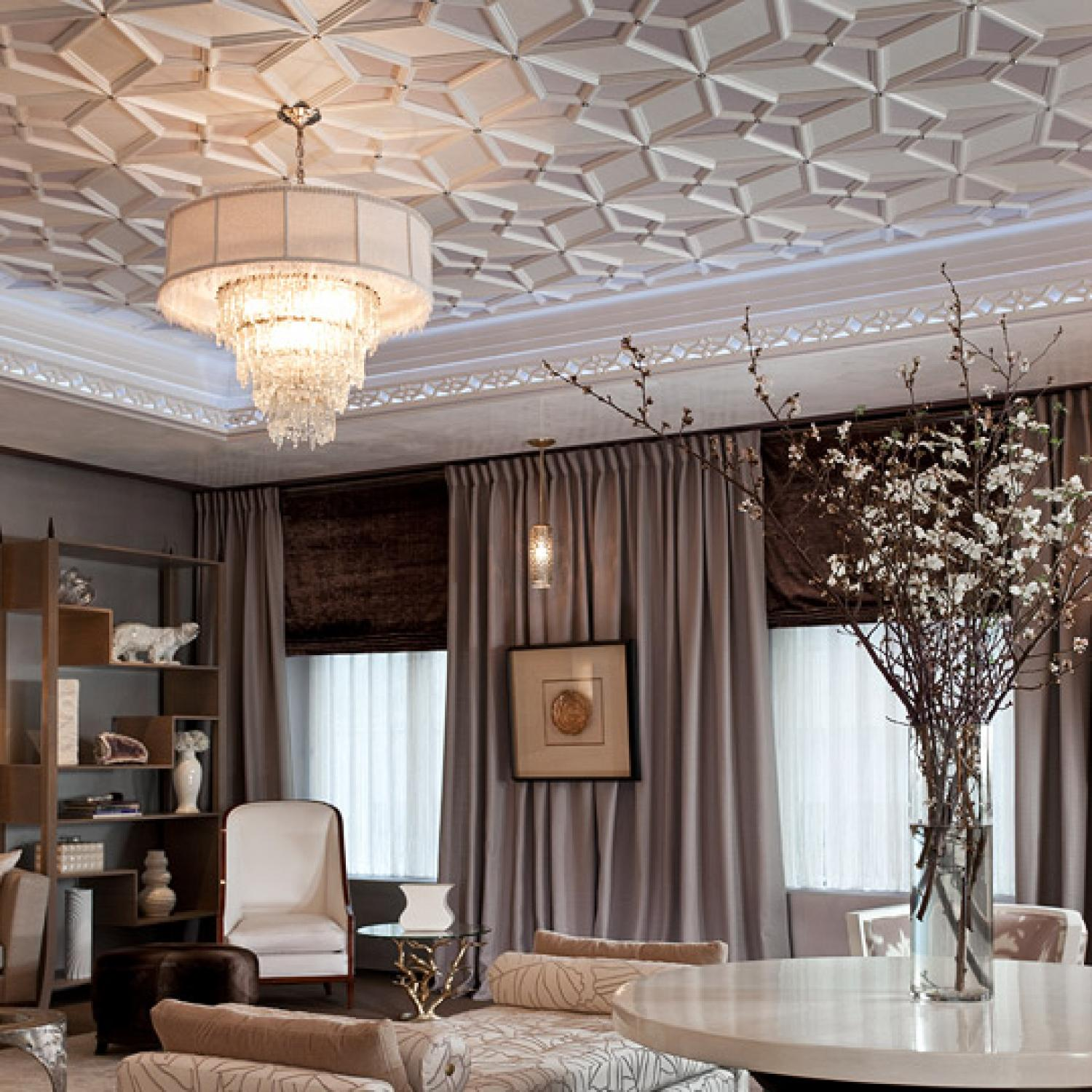Dramatic Window Treatments Traditional Home