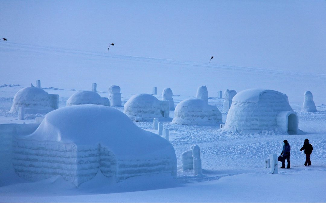 Igloo village near Lake Shikaribetsu