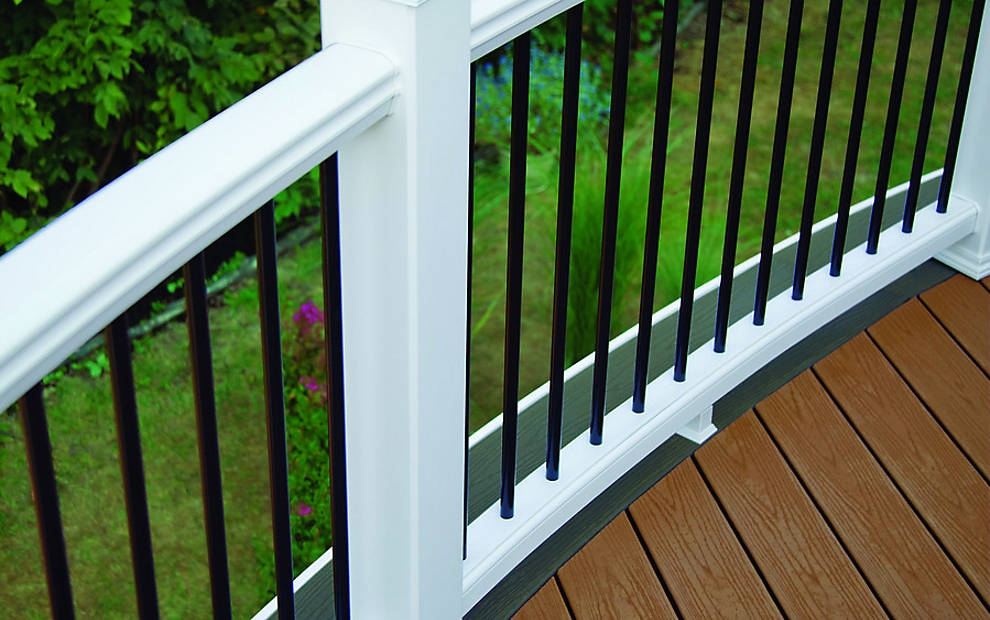 Trex Post Components Outdoor Stairs Railing For Any Patio Trex | Trex Transcend Stair Railing | Fascia | Lantern | Curved | Backyard | Premade Prefab Deck