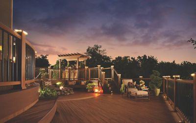 inspiring deck lighting ideas trex