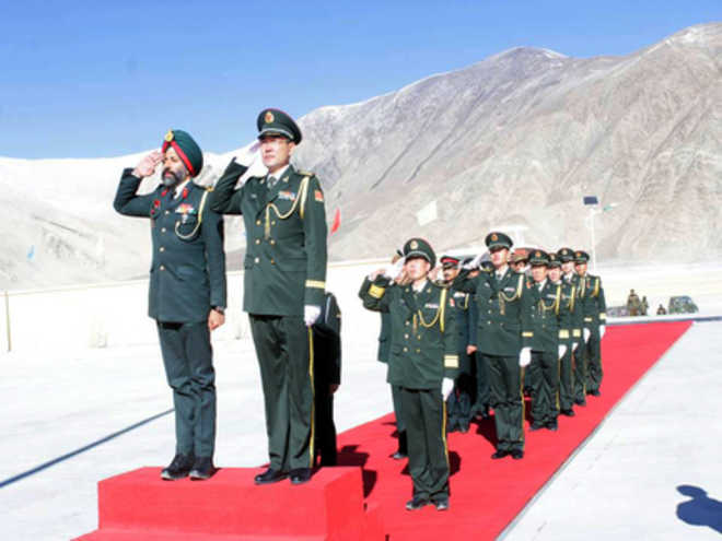 ... at a border personnel meeting in Ladakh on Thursday. A Tribune photo