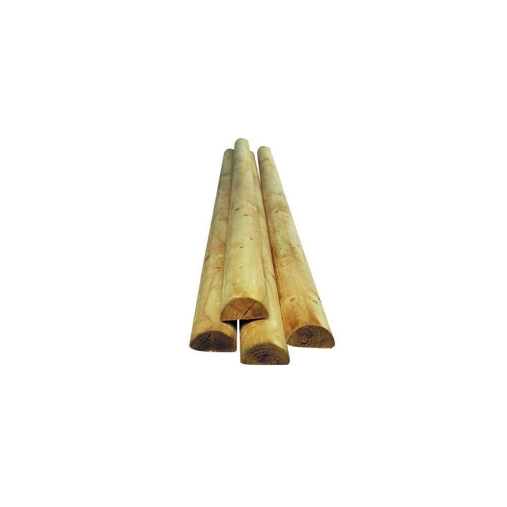 palissade demi ronde en bois o 9 x h 250 cm