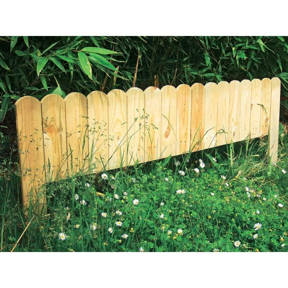 bordure deco a planter en bois l 120 x h 45 cm