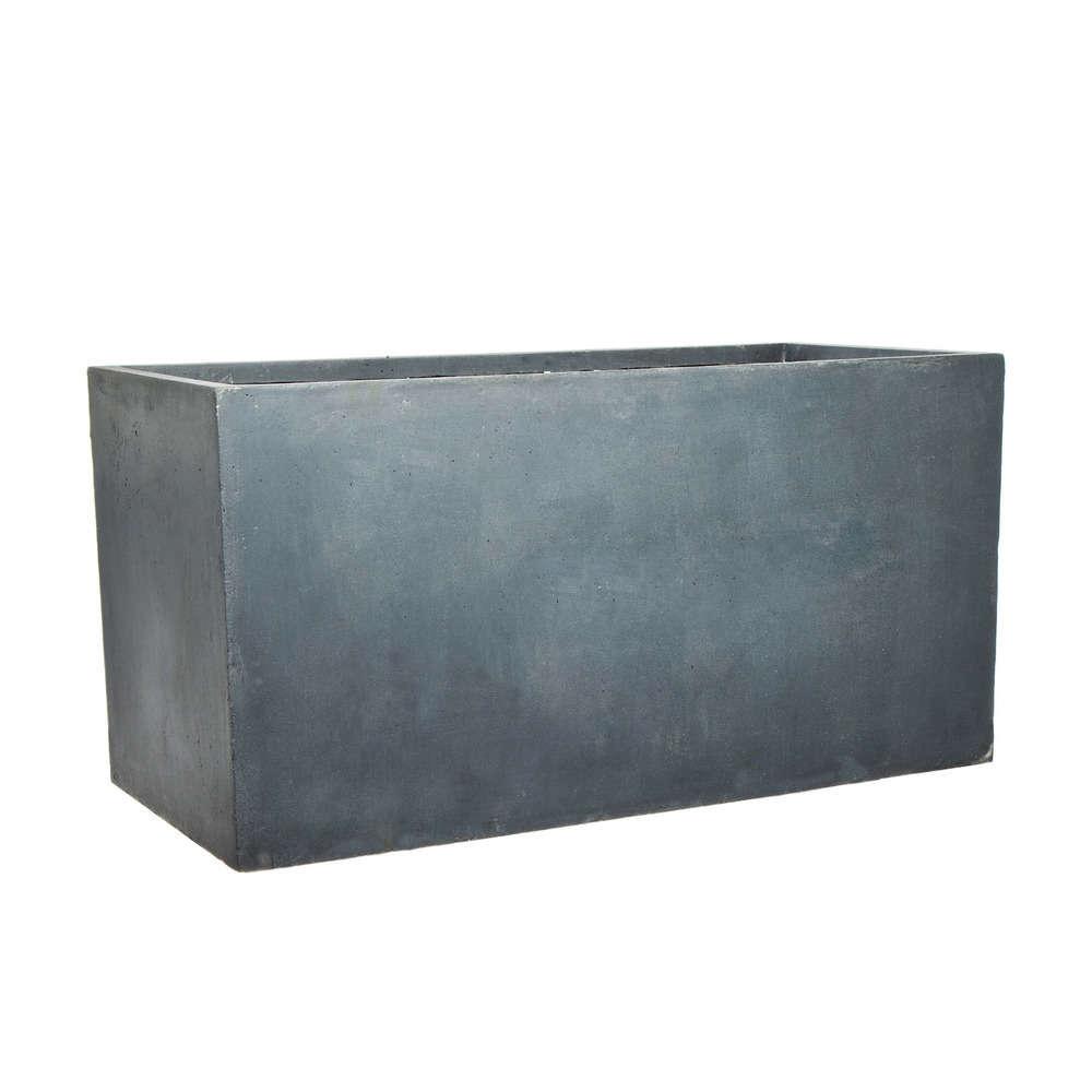 bac rectangulaire urban gris l 99 x l 31 x h 49 cm