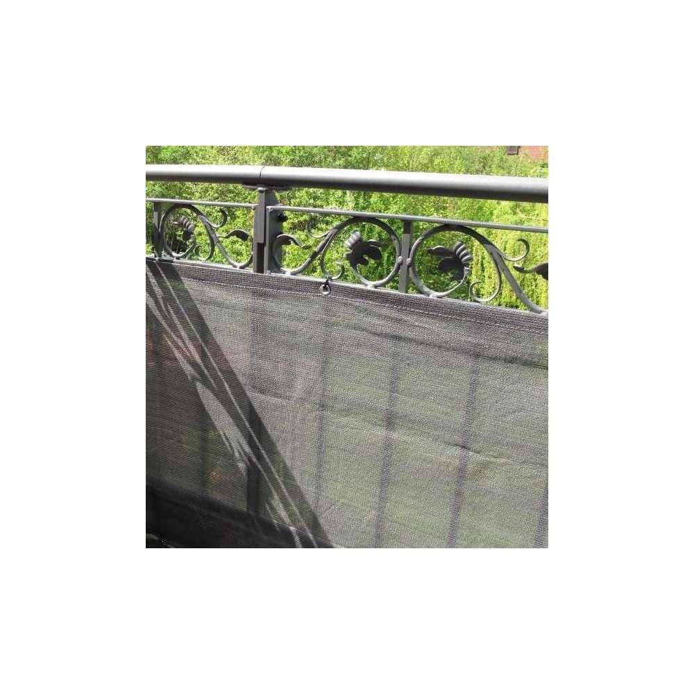 brise vue top design anthracite l 300 x h 90 cm
