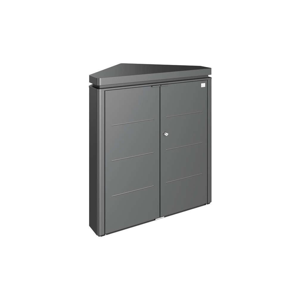 coffre d angle cornerboard en acier galvanise gris fonce l 117 cm