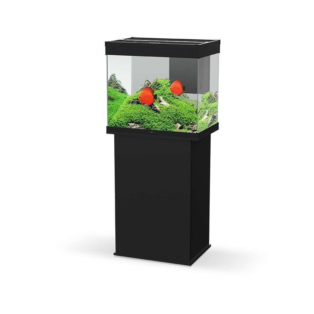 aquarium avec meuble emotion nature pro 60 noir 100 litres