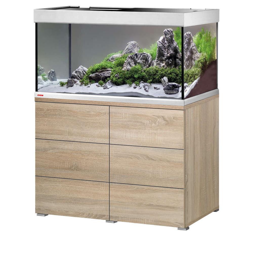 aquarium proxima 250 l meuble chene gris