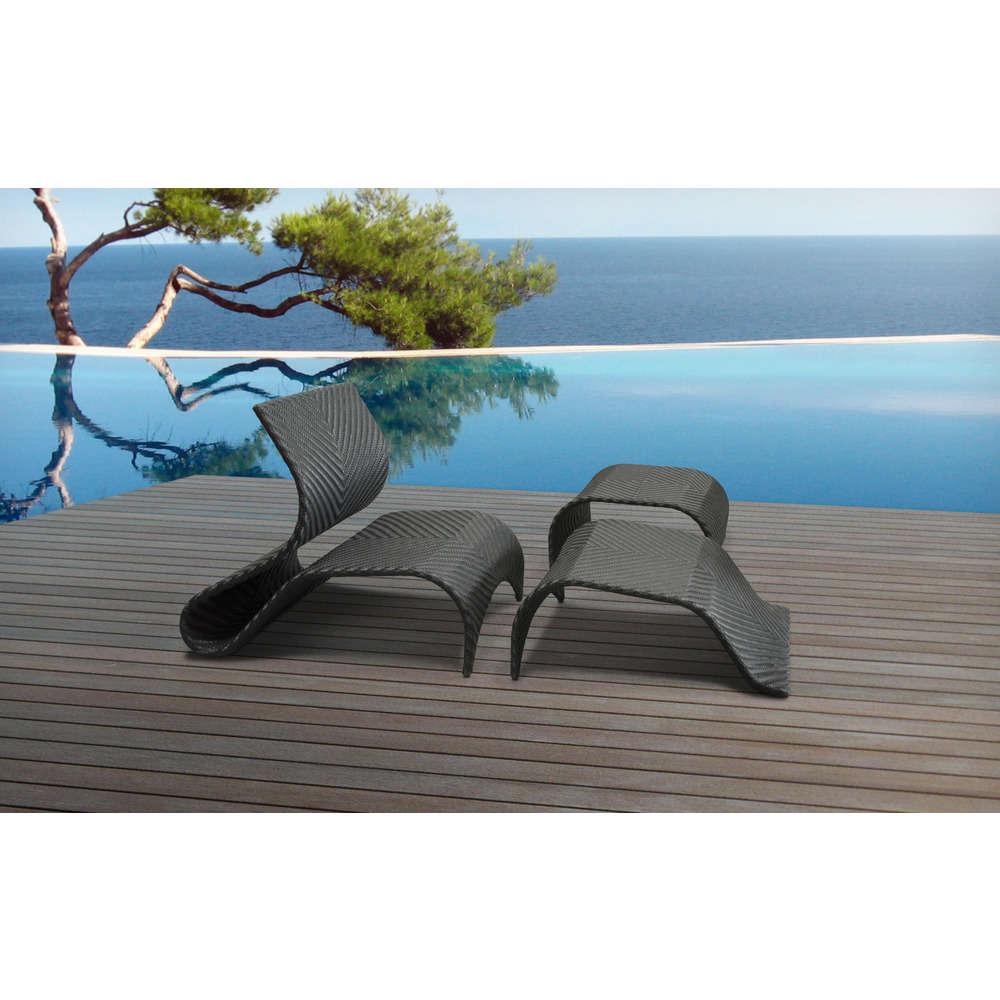 bain de soleil en resine tressee noire vanuatu