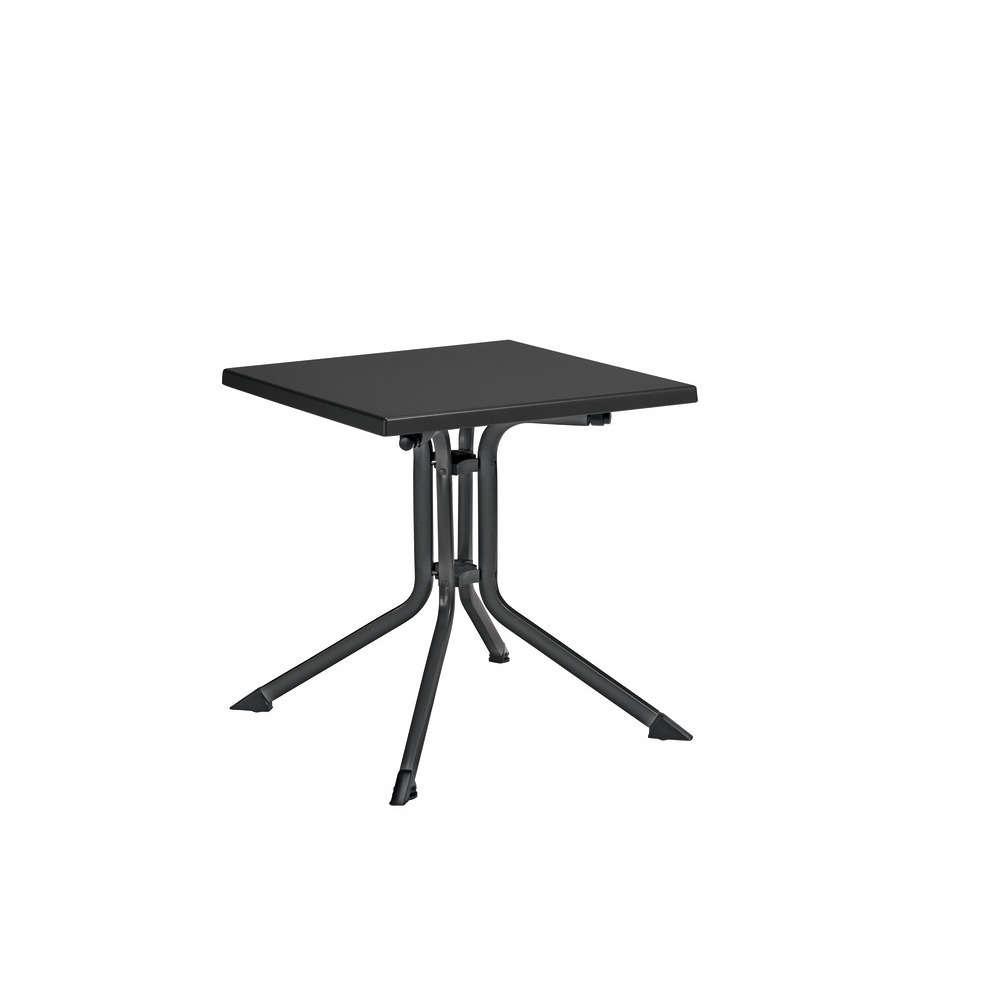 table repas pliante aluminium et resine 70x70 anthracite anthracite