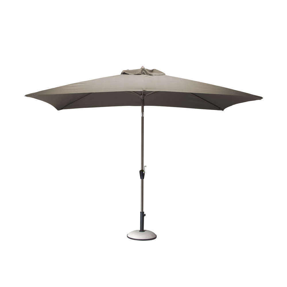 parasol 3x2 manivelle taupe