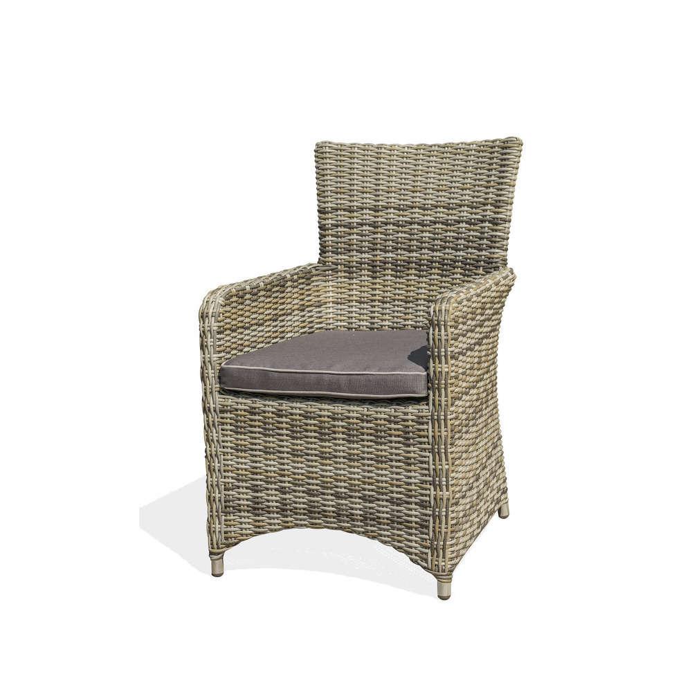 fauteuil bali en resine tressee gris truffaut