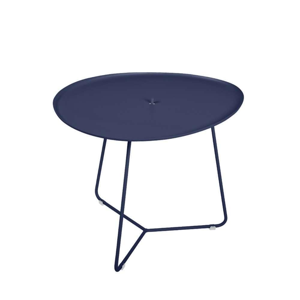 table basse cocotte bleu abysse