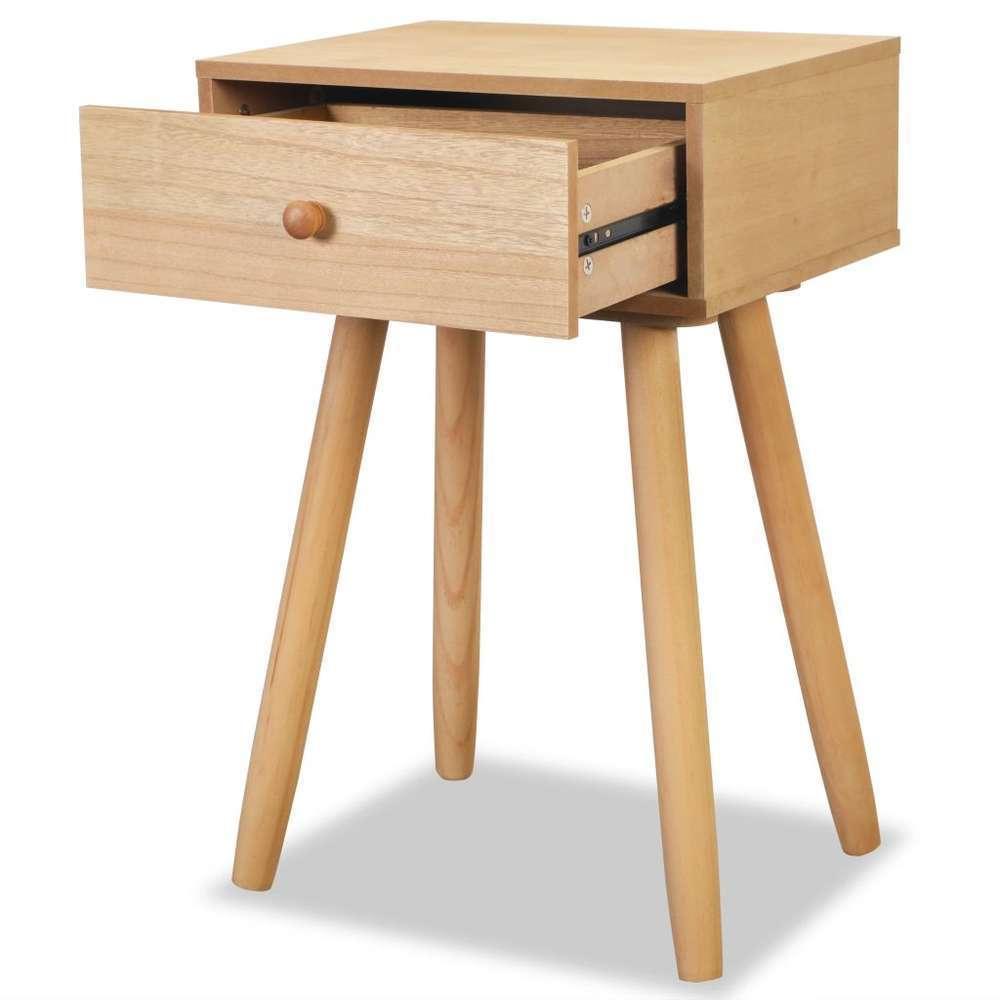table de chevet 2 pcs bois de pin massif 40 x 30 x 61 cm marron