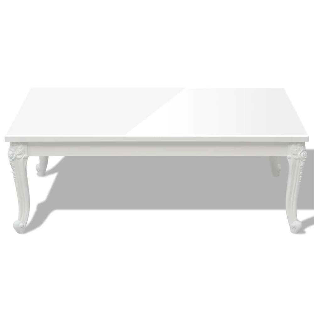 table basse 120 x 70 x 42 cm laquee blanche