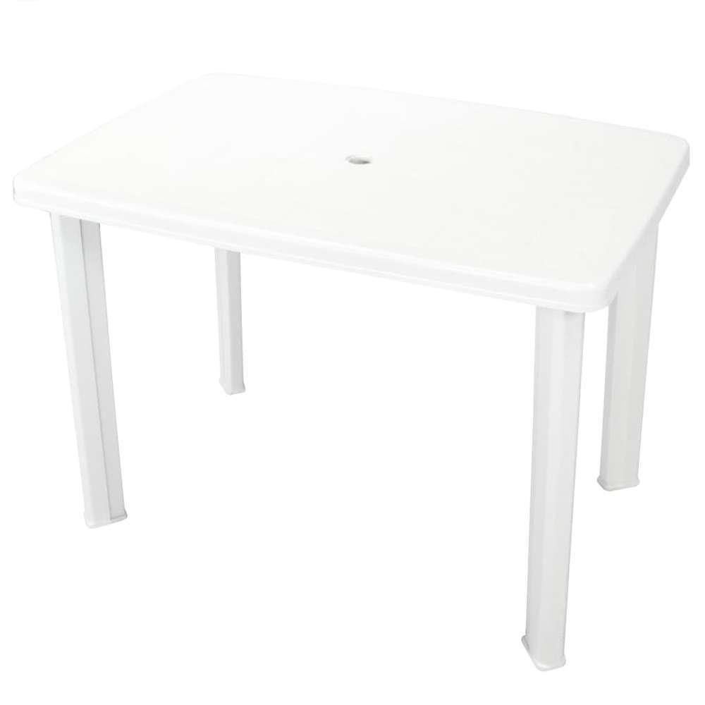 table de jardin blanc 101 x 68 x 72 cm plastique