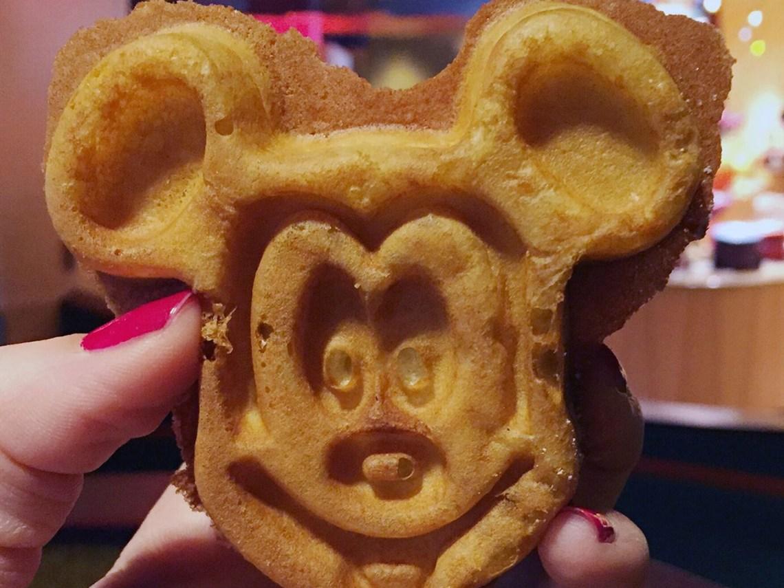 Disneyland Mickey waffle