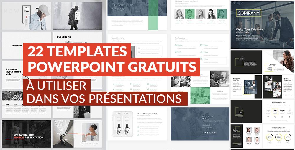 22 Templates Powerpoint Gratuits à Utiliser Dans Vos