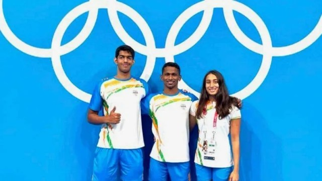 For the first time, three players will compete in swimming competitions on behalf of the country.  These three players also started practice.  Srihari Nataraj and Sajan Prakash qualified directly, while Mana Patel was ranked on the basis of rank.