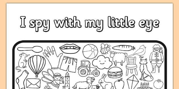 i spy  my little eye colouring activity sheet  colours