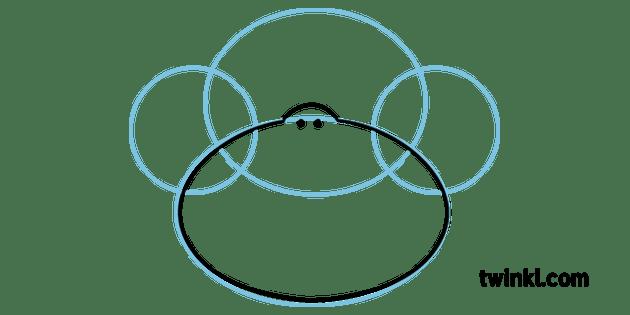 Etape 4 Comment Dessiner Un Visage De Singe Dessin D Activite Animale Ks1