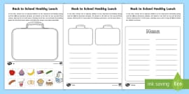 Lunch Box Template Healthy Lunchbox Healthy Eating Pshe