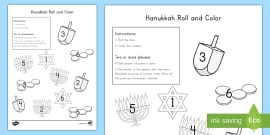 Hanukkah Size Matching Worksheet Worksheet