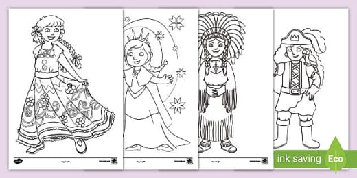 Prince And Princess Colouring In Pages Colouring Sheets