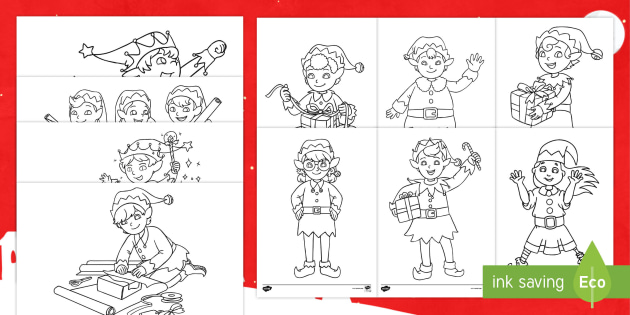 Elf On The Shelf Children S Christmas Colouring Pictures
