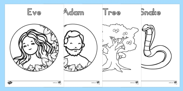 Adam And Eve Creation Story Coloring Sheets Teacher Made