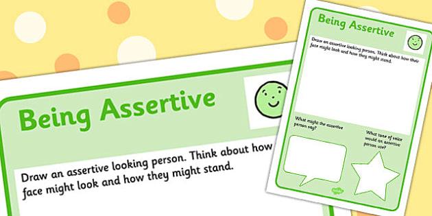 Assertive Worksheet