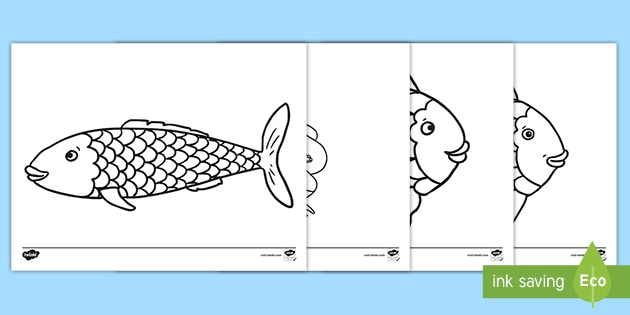 Coloring Sheets To Support Teaching On The Rainbow Fish