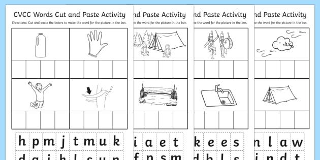 Cvcc Cut And Paste Worksheet Teacher Made