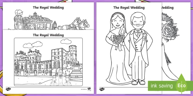 The Royal Wedding Colouring Pages Teacher Made