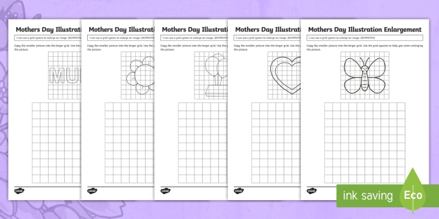 Mother S Day Illustration Enlargement Worksheet