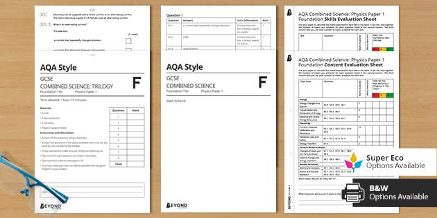 AQA Physics Assessment