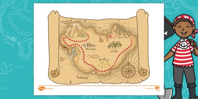 Jake S First Day Desert Island Treasure Map Teacher Made