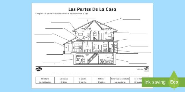 Spanish Parts Of A House Worksheet Worksheet Worksheet