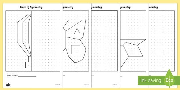 Hojas de trabajo de simetría