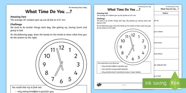 What Time Do You Worksheet Worksheet Teacher Made